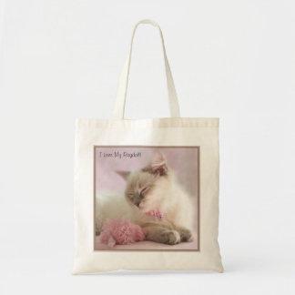 私はRagdollの私のバッグを愛します トートバッグ