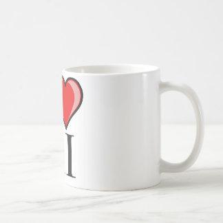 私はRI -ロードアイランド--を愛します コーヒーマグカップ