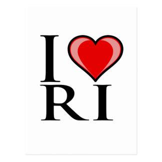 私はRI -ロードアイランド--を愛します ポストカード