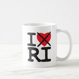 私はRI -ロードアイランド--を憎みます コーヒーマグカップ