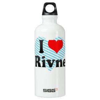 私はRivne、ウクライナを愛します ウォーターボトル