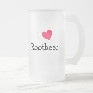 私はRootbeerを愛します フロストグラスビールジョッキ