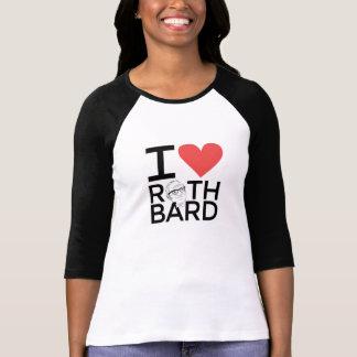 私はRothbardの女性ソフトボールのティーを愛します Tシャツ