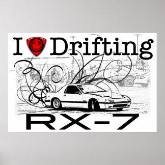 私はRX-7を漂わせることを愛します ポスター