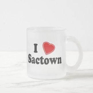 私はSactownを愛します フロストグラスマグカップ