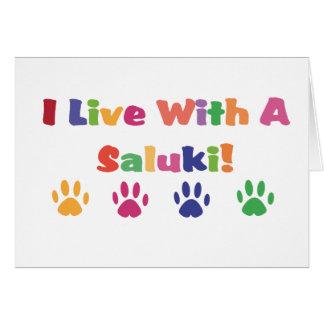 私はSalukiと住んでいます カード