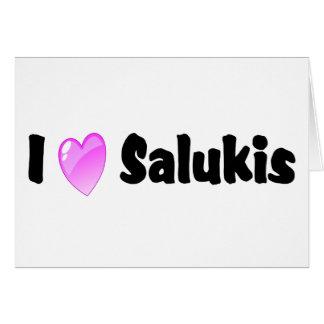 私はSalukisを愛します カード