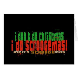 私はScroogemas、赤および緑をします カード