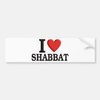 私はShabbatを愛します バンパーステッカー