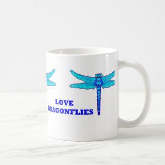 私はSHARLESによって青いトンボのコーヒー・マグを愛します コーヒーマグカップ