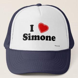 私はSimoneを愛します キャップ