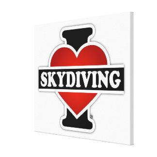 私はSkydivingを愛します キャンバスプリント