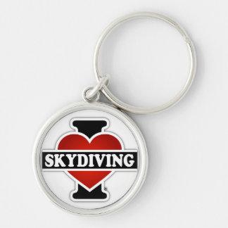 私はSkydivingを愛します キーホルダー