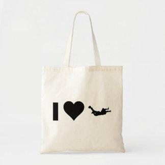 私はSkydivingを愛します トートバッグ