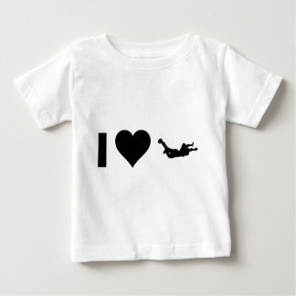 私はSkydivingを愛します ベビーTシャツ