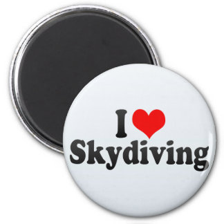 私はSkydivingを愛します マグネット