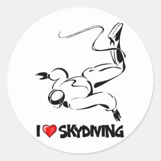 私はSkydivingを愛します ラウンドシール