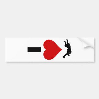 私はSkydivingを愛します(縦) バンパーステッカー