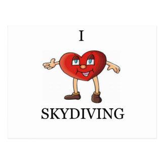 私はskydiving愛します ポストカード