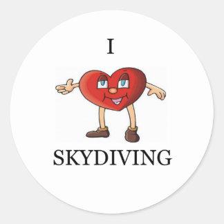 私はskydiving愛します ラウンドシール