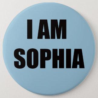私はSOPHIAです 15.2CM 丸型バッジ