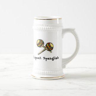 私はSpanglishを話します ビールジョッキ