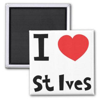 私はSt Ivesを愛します マグネット