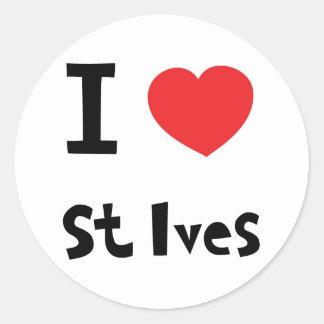私はSt Ivesを愛します ラウンドシール