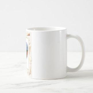 私はSt. Maartenの貝のハートを愛します-。Celeste Sheffey コーヒーマグカップ