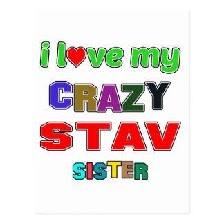 私はStavの私の熱狂するな姉妹を愛します ポストカード