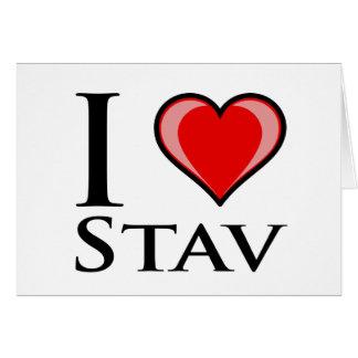 私はStavを愛します カード