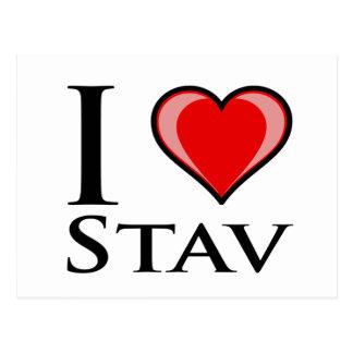 私はStavを愛します ポストカード