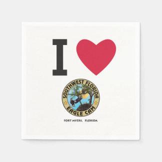 私はSWFLのワシカムナプキンを愛します スタンダードカクテルナプキン