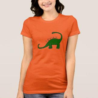 私はTシャツBrontosaurusの恐竜の女性の存在しています Tシャツ