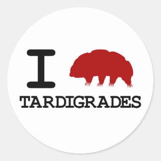 私はTardigradesを愛します 丸形シール・ステッカー
