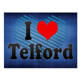 私はTelford、イギリスを愛します ポストカード