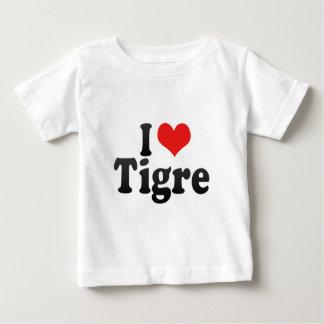 私はTigreを愛します ベビーTシャツ