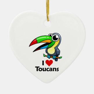 私はToucansを愛します セラミックオーナメント