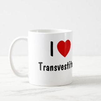 私はTranvestitesを愛します コーヒーマグカップ