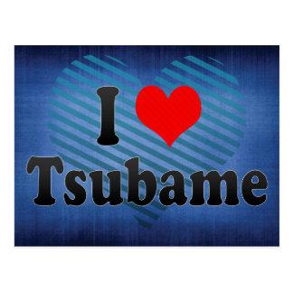私はTsubame、日本を愛します。 Aisuru Tsubame、日本 ポストカード