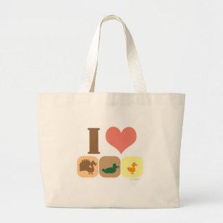 私はTurduckenを愛します! ラージトートバッグ
