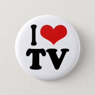 私はTVを愛します 5.7CM 丸型バッジ