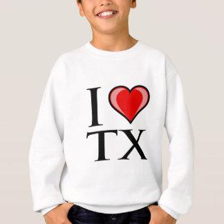 私はTX -テキサス州--を愛します スウェットシャツ