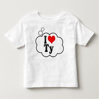 私はTyを愛します トドラーTシャツ