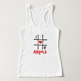 #私はUアンジェラの女性のHanesのNano Tシャツをlove タンクトップ