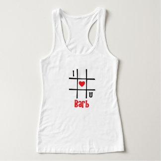 #私はU Barbの女性のHanesのNano Tシャツをlove タンクトップ
