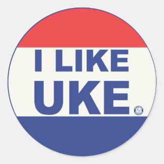 私はUKEのステッカーを好みます ラウンドシール