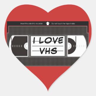 私はVHSを愛します ハートシール