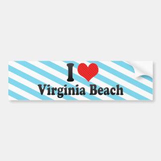 私はVirginia Beachを愛します バンパーステッカー