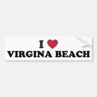 私はVirginia Beachヴァージニアを愛します バンパーステッカー